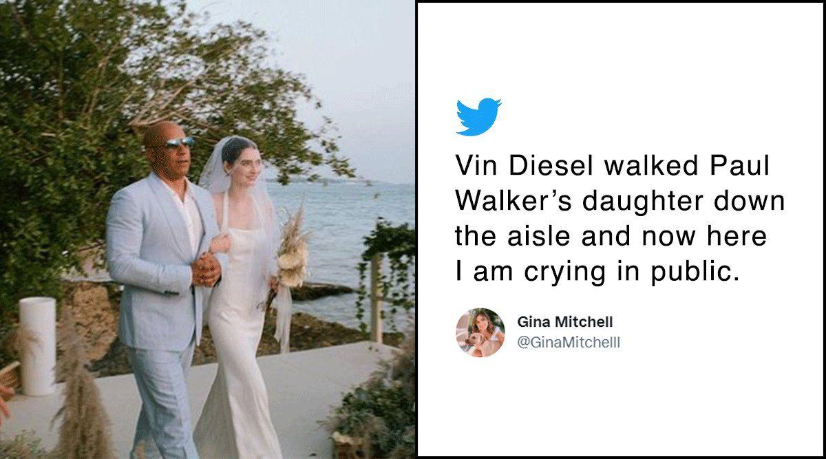 Vin Dieselllevó al altar a la hija de Paul Walker, Meadow Walker, quien se casó en una ceremonia privada con Louis Thornton-Allan, en las playas de República Dominicana
