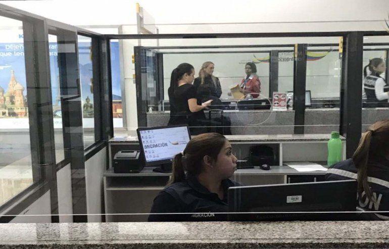 Lilian Tintori arribó en la madrugada del jueves a Guayaquil