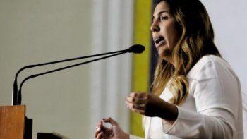 Fotografía de la diputada venezolana Desiree Barboza publicada el 27 de febrero de 2020 por el Centro de Comunicación Nacional de la presidencia encargada de Juan Guaidó.